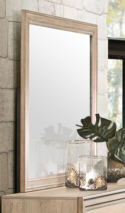 Homelegance Lonan Mirror - Weathered