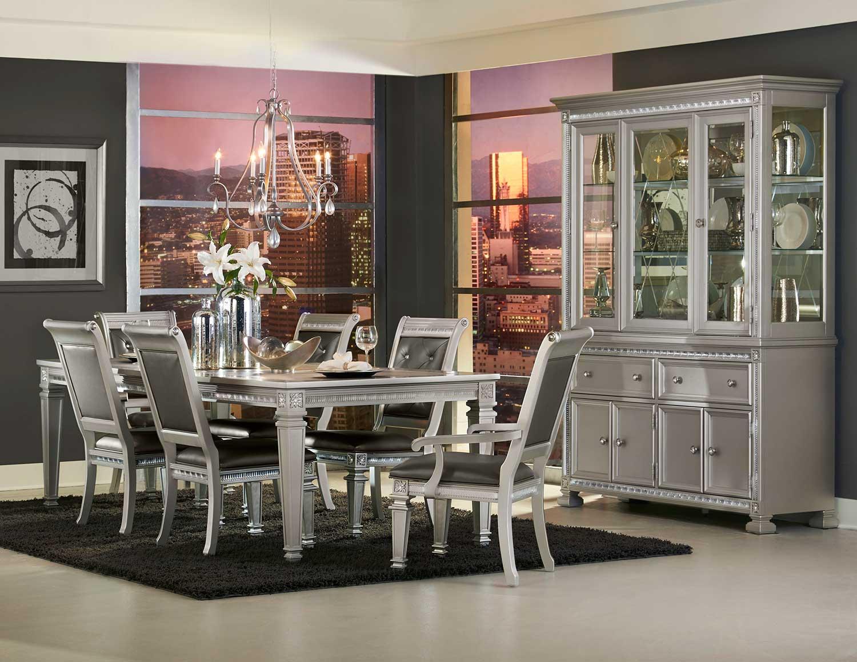 Homelegance Bevelle Dining Set - Silver