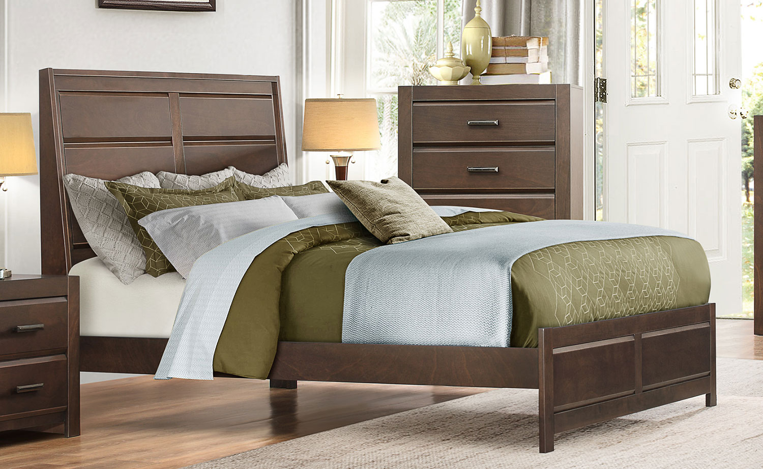 Homelegance Erwan Low Profile Bedroom Set Espresso