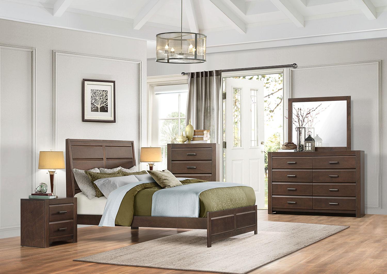 Homelegance Erwan Low Profile Bedroom Set - Espresso