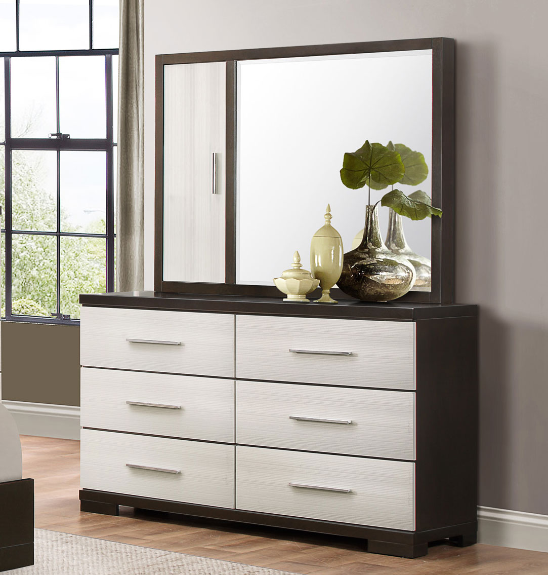 Homelegance Pell Dresser - Two-tone Espresso/White