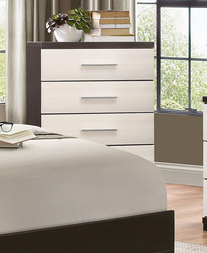 Homelegance Pell Chest - Two-tone Espresso/White