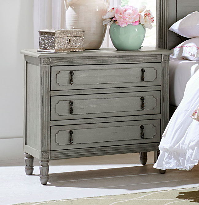 Homelegance Aviana Night Stand - Antique Gray