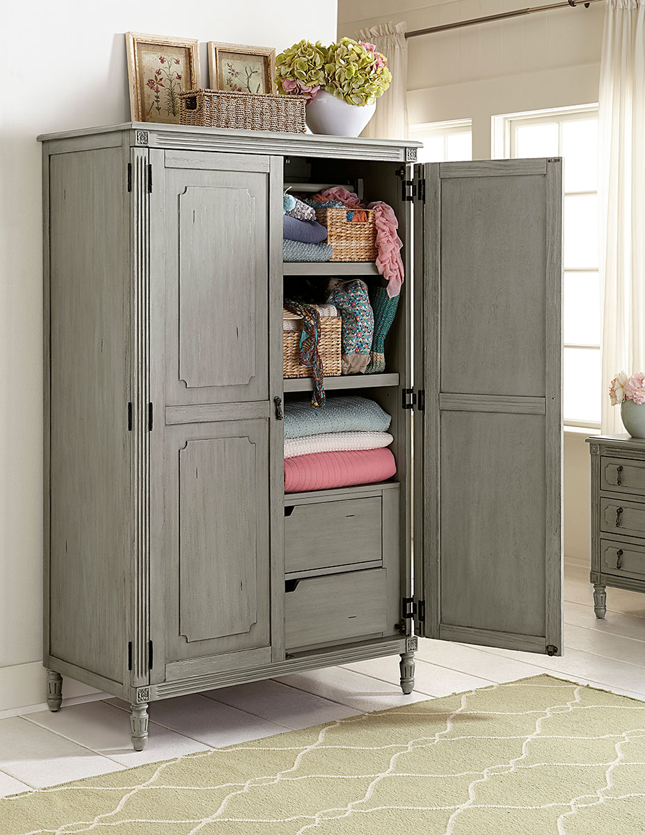 Homelegance Aviana Armoire - Antique Gray