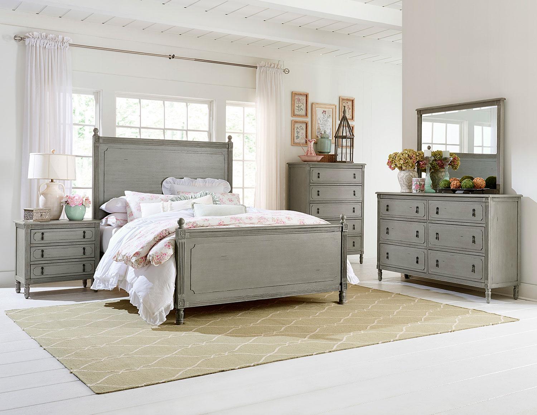Homelegance aviana bedroom set antique gray 1977 bedroom set at for Antique grey bedroom furniture