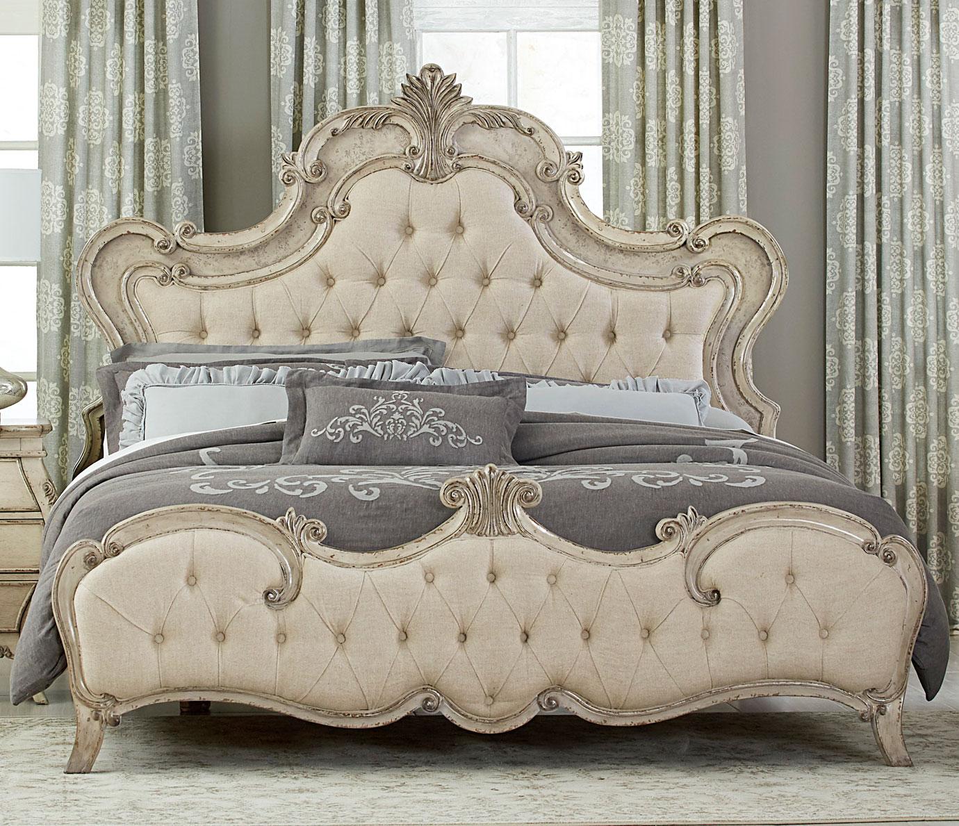 Homelegance Elsmere Button Tufted Upholstered Bed - Antique Gray