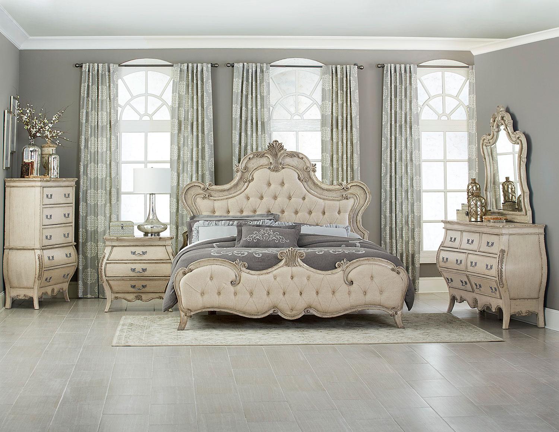 Homelegance Elsmere Button Tufted Upholstered Bedroom Set   Antique Gray. Homelegance Elsmere Button Tufted Upholstered Bedroom Set