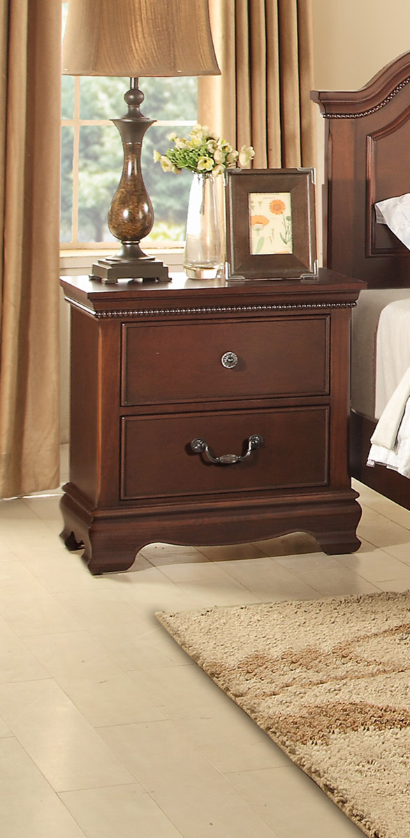 Homelegance Lucida Night Stand - Cherry