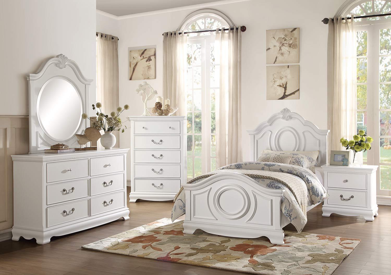 Homelegance Lucida Bedroom Set - White