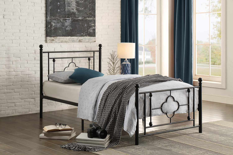 Homelegance Morris Metal Platform Bed - Black