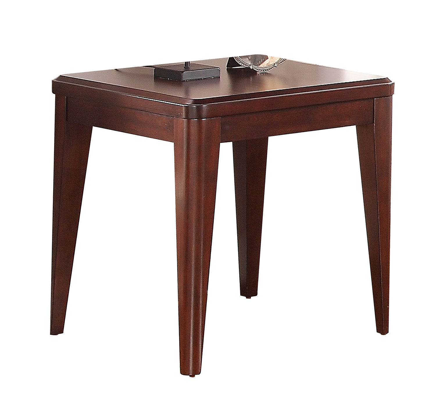 Homelegance Beaumont End Table - Brown Cherry