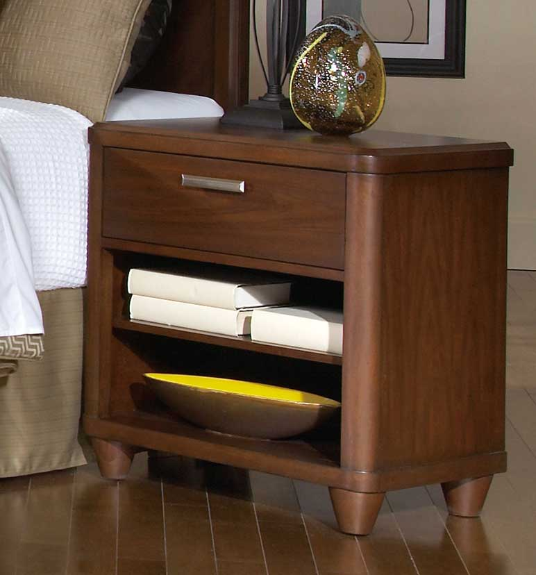 Homelegance Beaumont Night Stand - Brown Cherry
