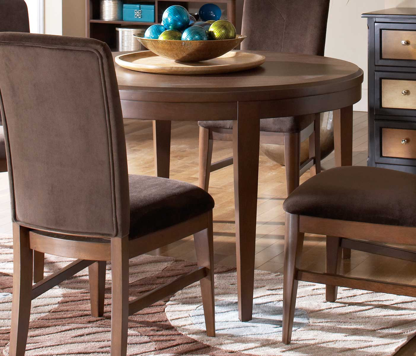 Homelegance Beaumont Round Dining Table - Brown Cherry