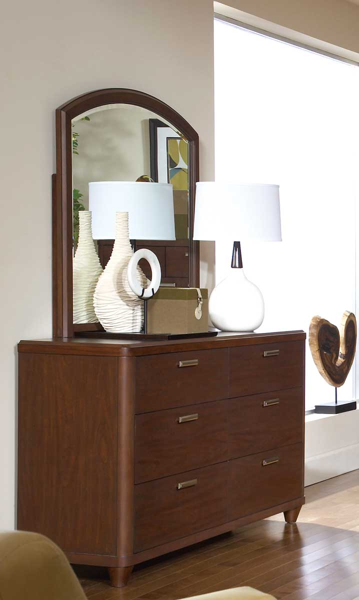 Homelegance Beaumont Mirror - Brown Cherry
