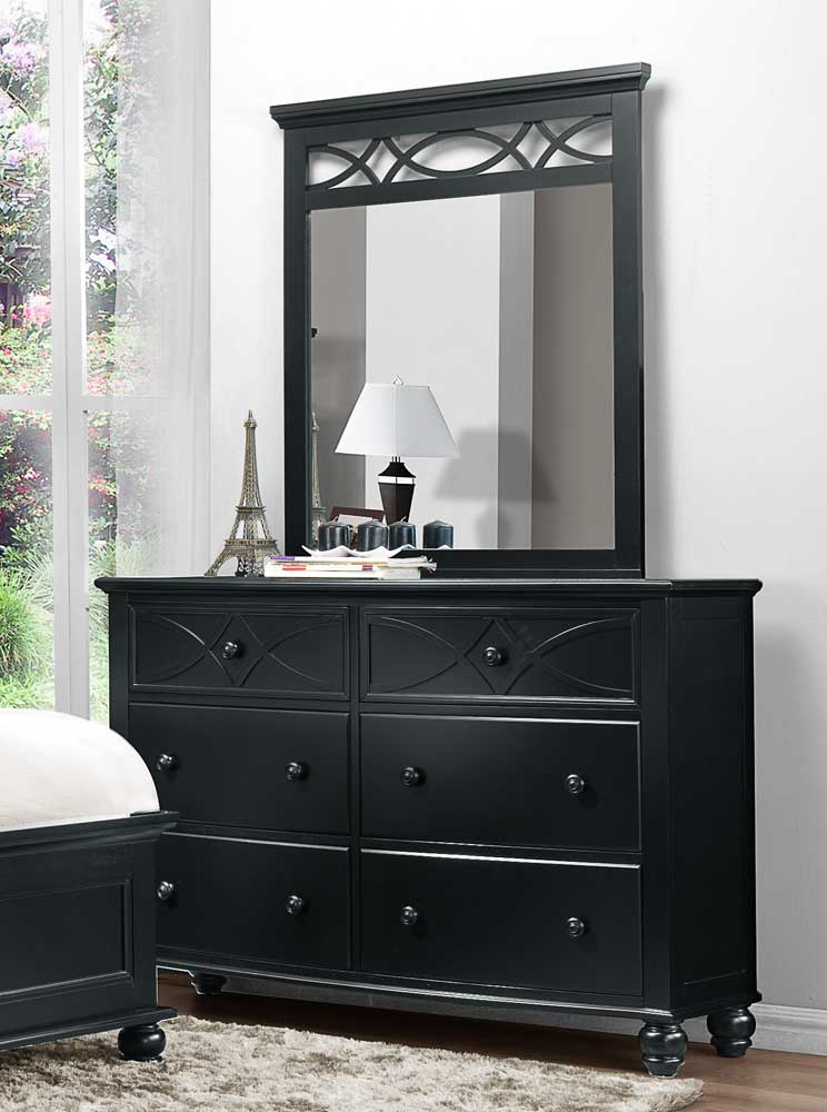 Homelegance Sanibel Mirror - Black