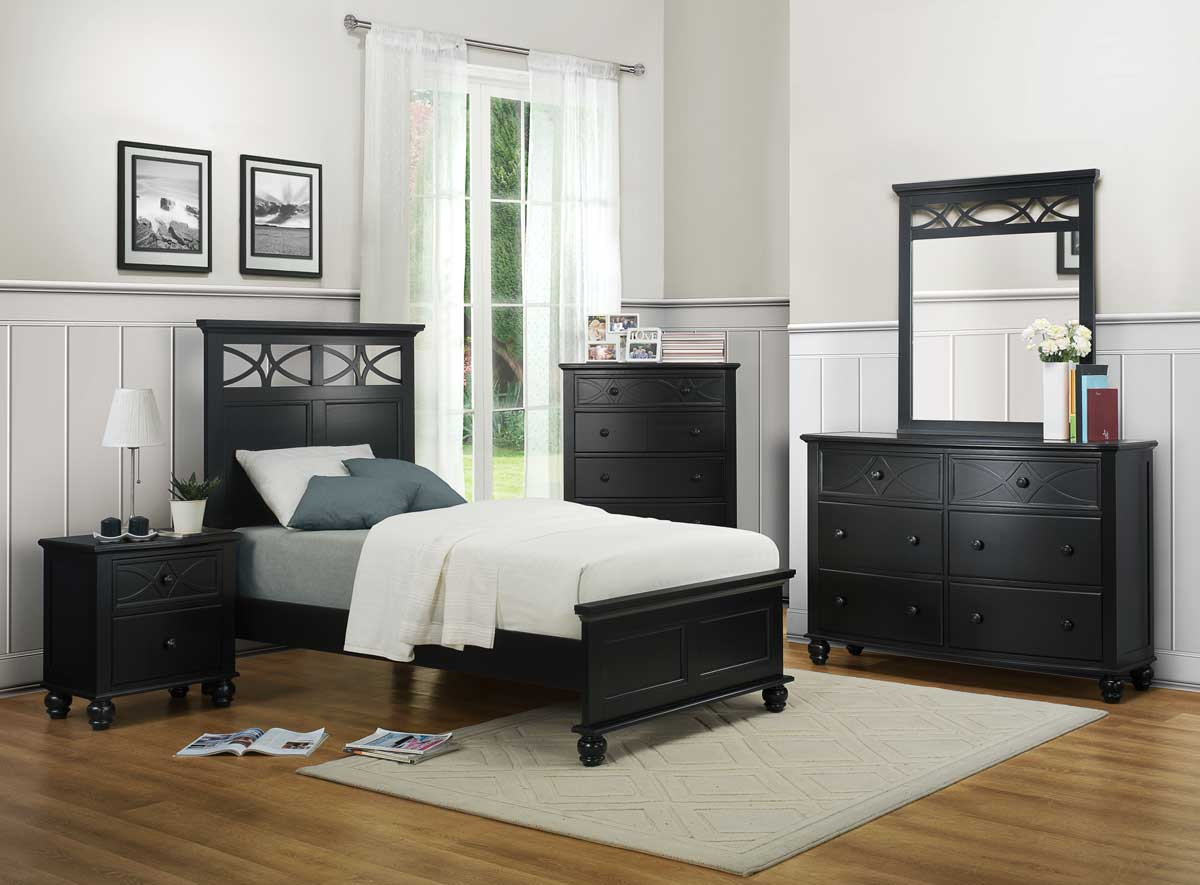 Homelegance Sanibel Bedroom Set - Black