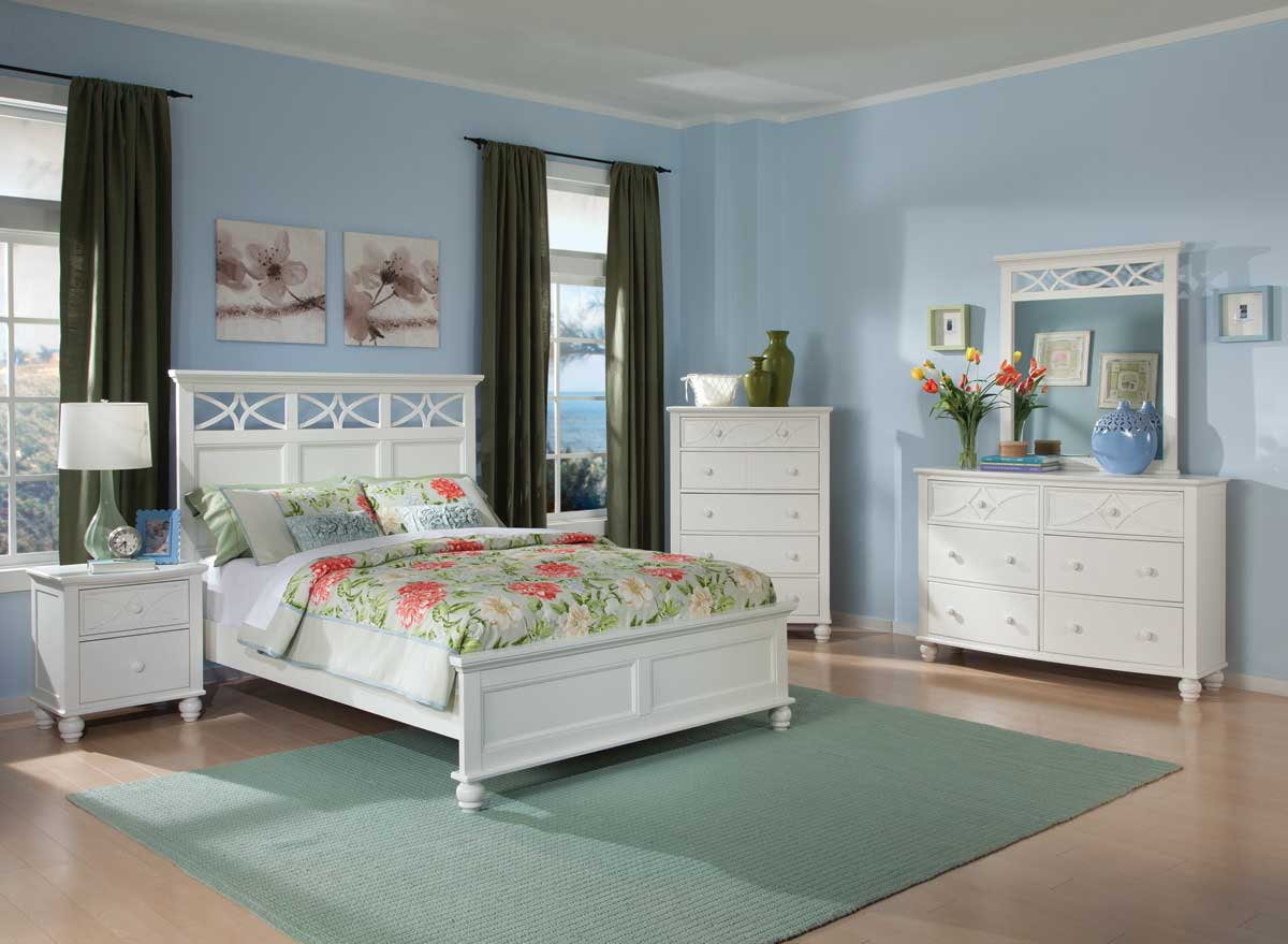Homelegance Sanibel Bedroom Set - White