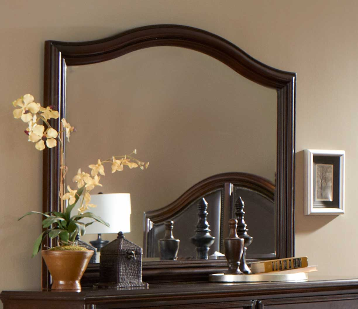 Homelegance Beaux Mirror - Dark Cherry