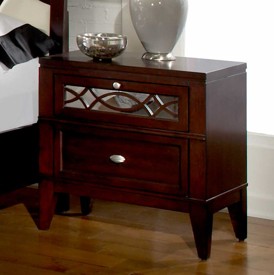 Homelegance Simpson Night Stand - Reversible Panel