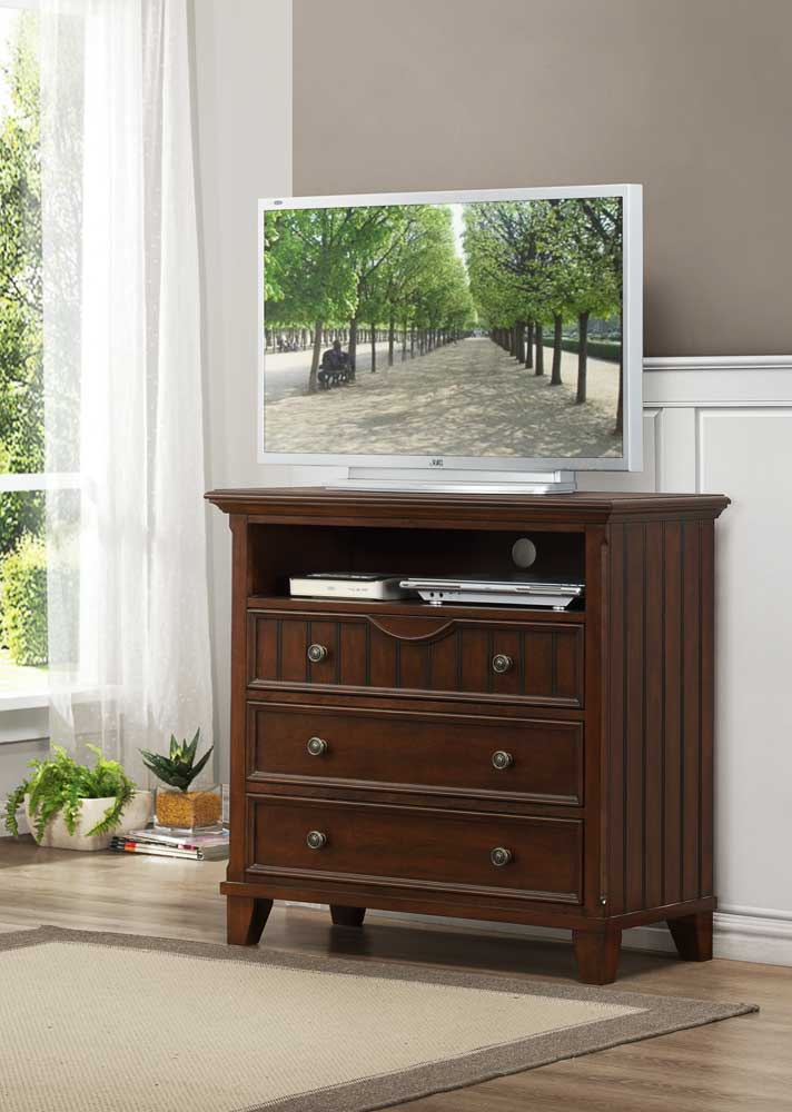 Homelegance Alyssa TV Chest - Cherry