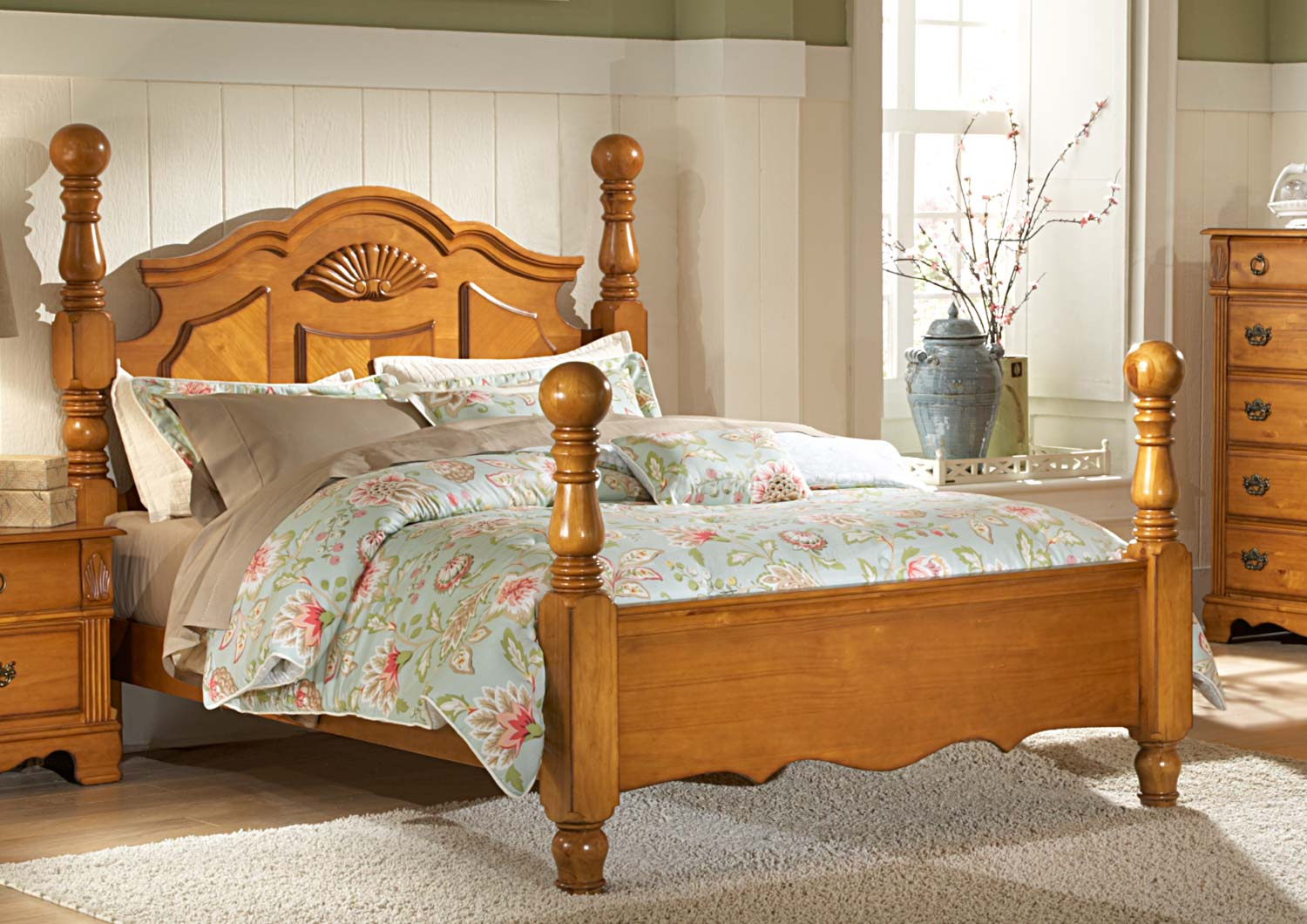 Homelegance Archdale Bed - Pine