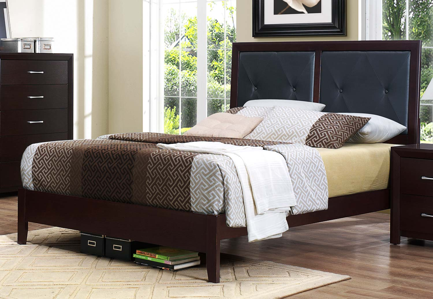 Homelegance Edina Bed - Brown Espresso