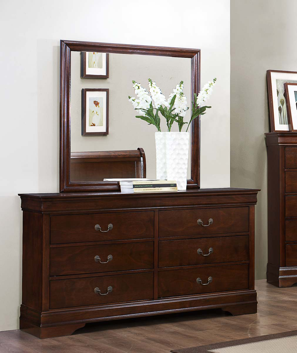 Homelegance Mayville Dresser - Burnished Brown Cherry