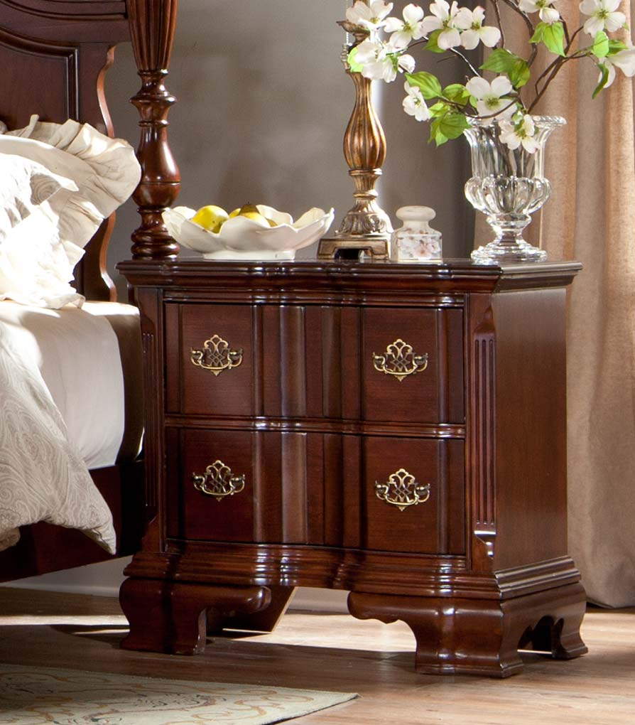 Homelegance Guilford Night Stand - Brown Cherry