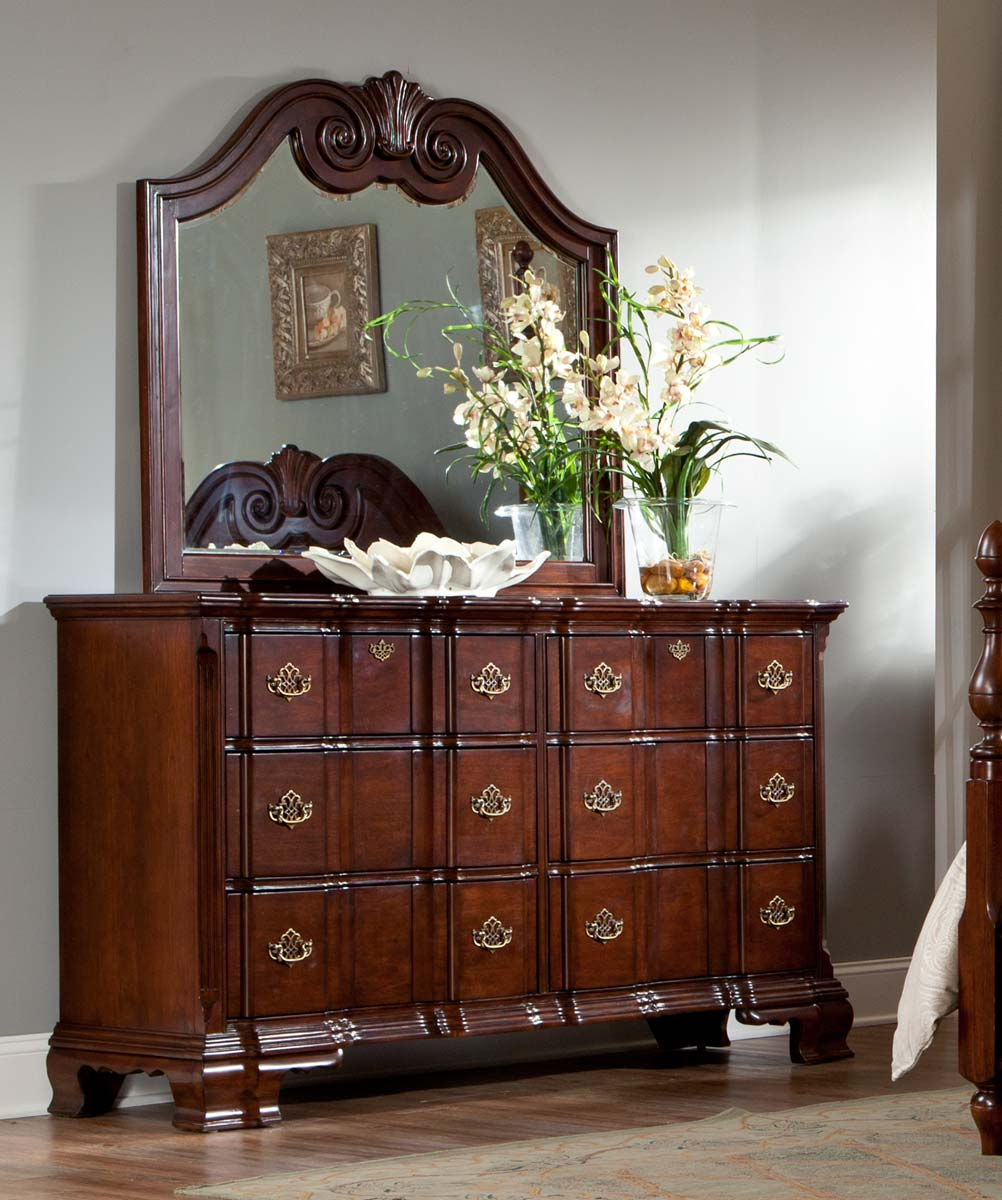 Homelegance Guilford Mirror - Brown Cherry