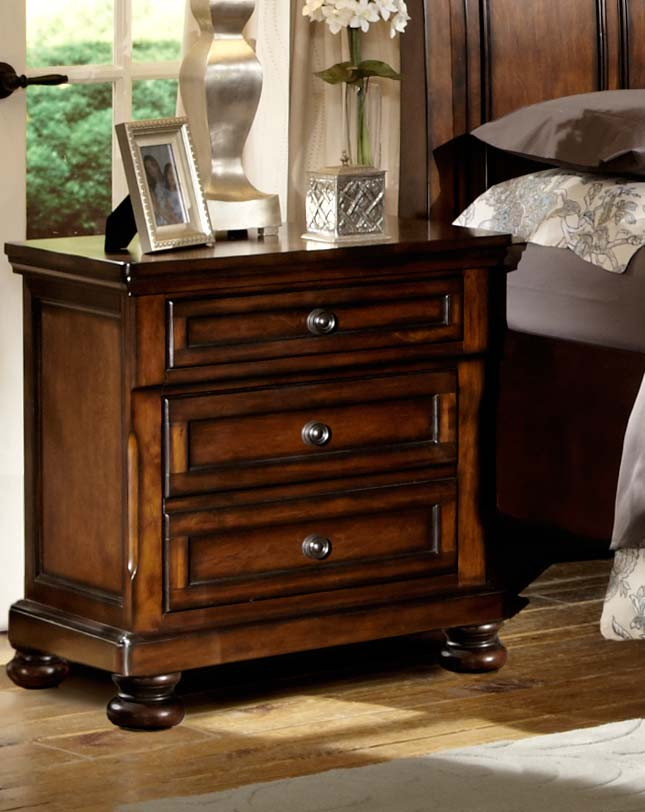 Homelegance Cumberland Night Stand - Brown Cherry