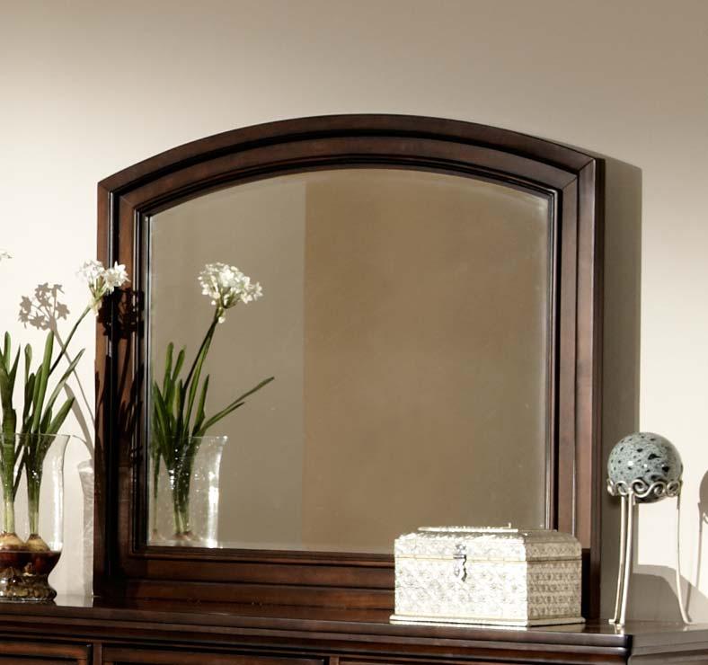 Homelegance Cumberland Mirror - Brown Cherry
