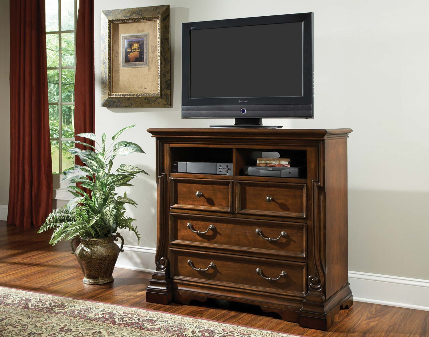 Homelegance Havenwood TV Chest - Cherry