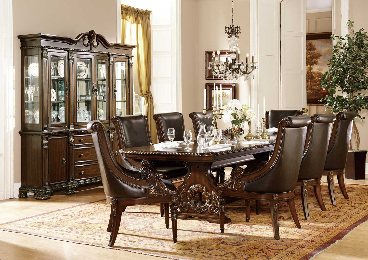 Homelegance Orleans Trestle Dining Set