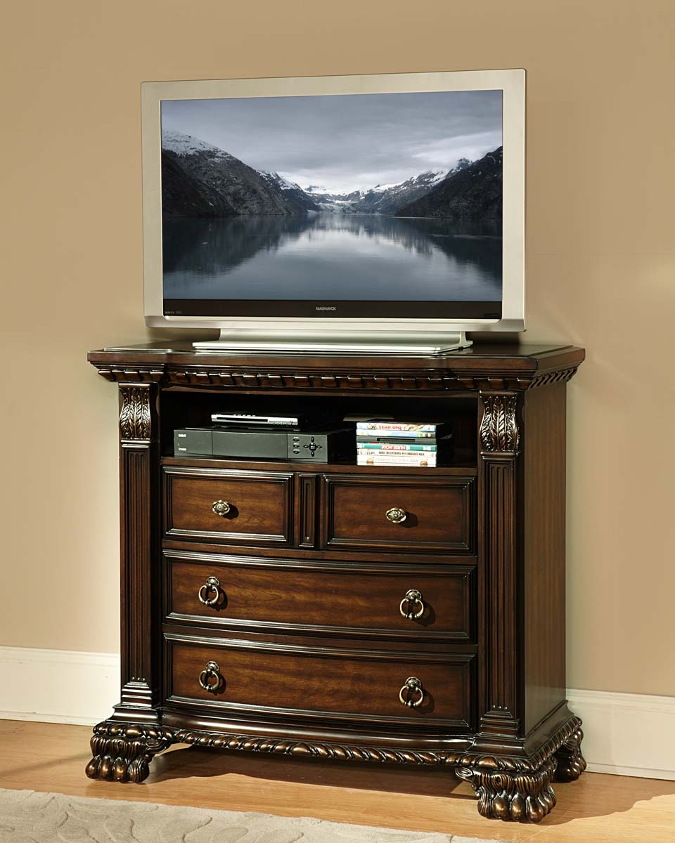 Homelegance Orleans TV Chest - Cherry