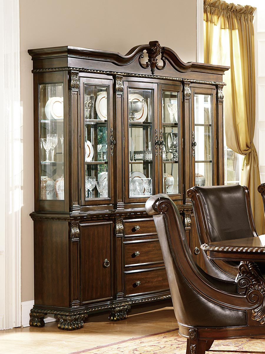 Homelegance Orleans China Cabinet - Cherry