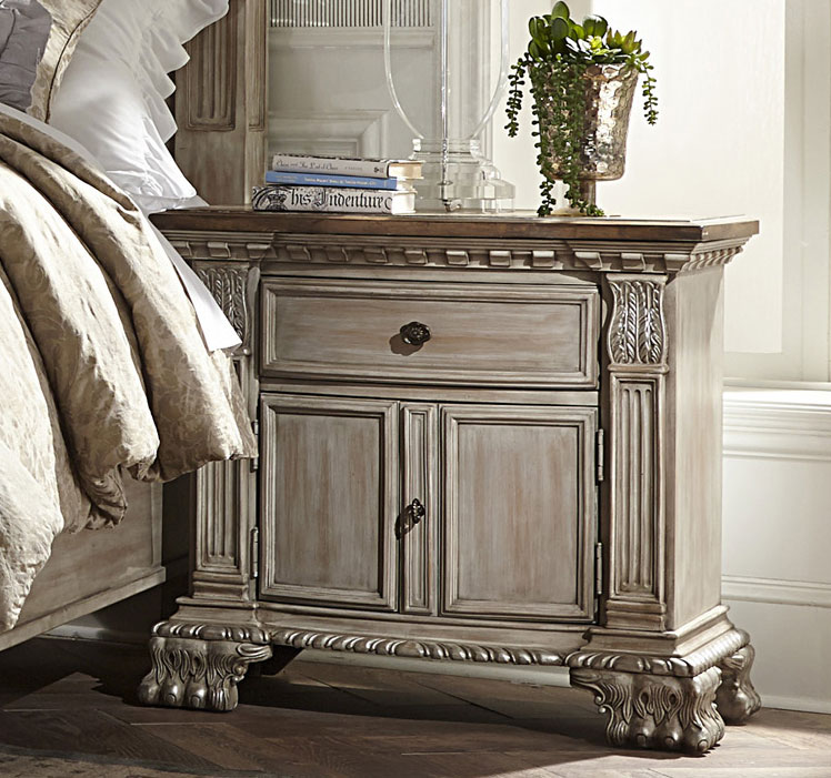 Homelegance Orleans II Night Stand - White Wash