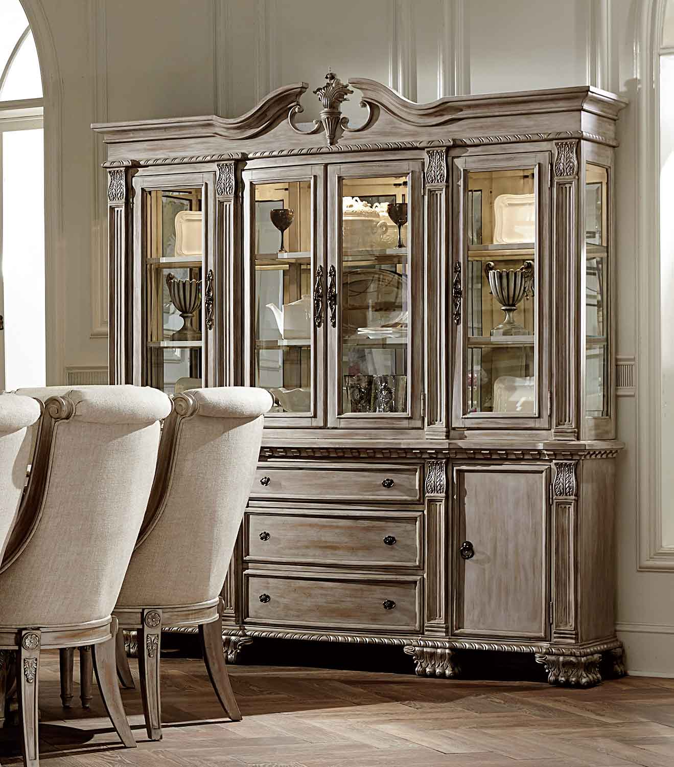 Homelegance Orleans II China Cabinet - White Wash