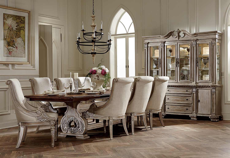 Homelegance Orleans II Trestle Dining Set - White Wash/Weathered Brown