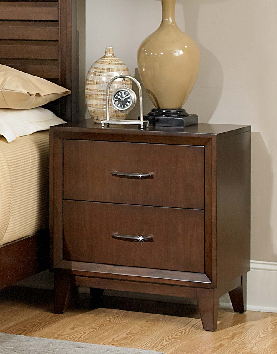 Homelegance Oliver Night Stand - Warm Brown Cherry