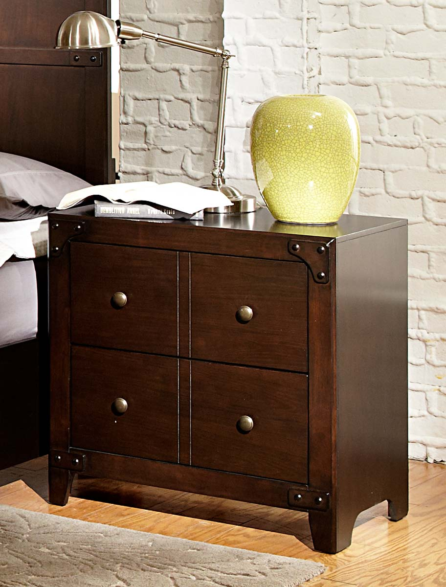 Homelegance Brawley Night Stand - Brown Cherry