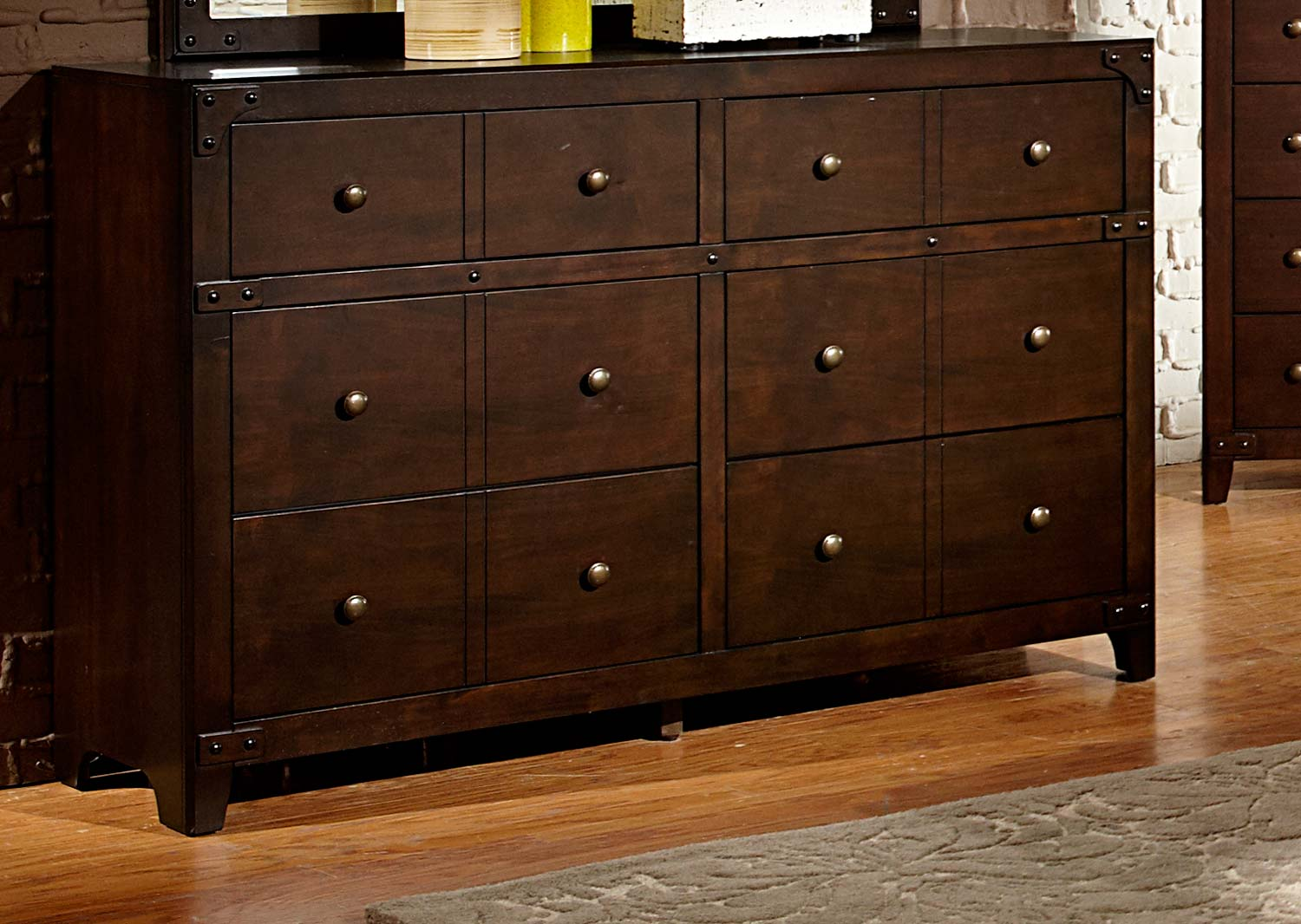 Homelegance Brawley Dresser - Brown Cherry