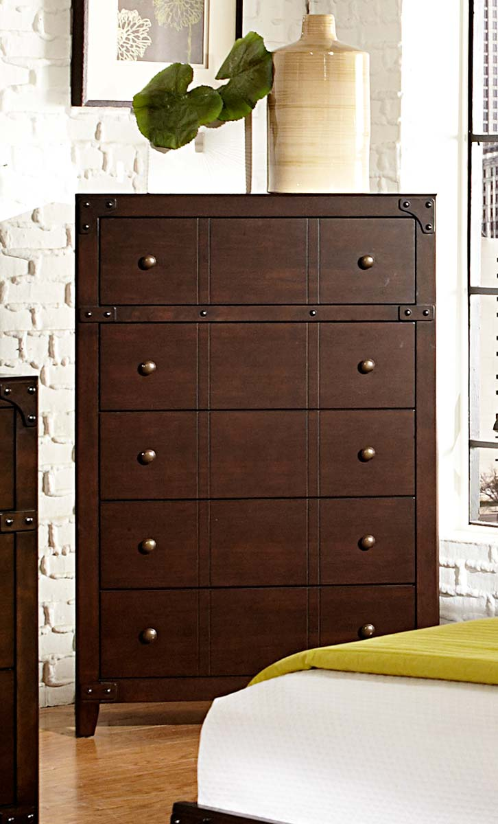 Homelegance Brawley Chest - Brown Cherry