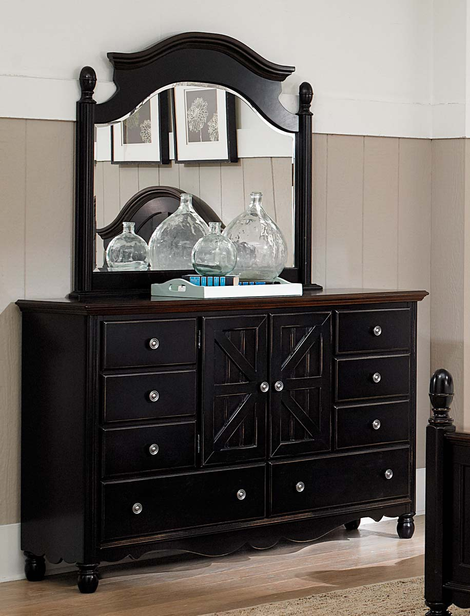 Homelegance Loretta Dresser - Black Sand through