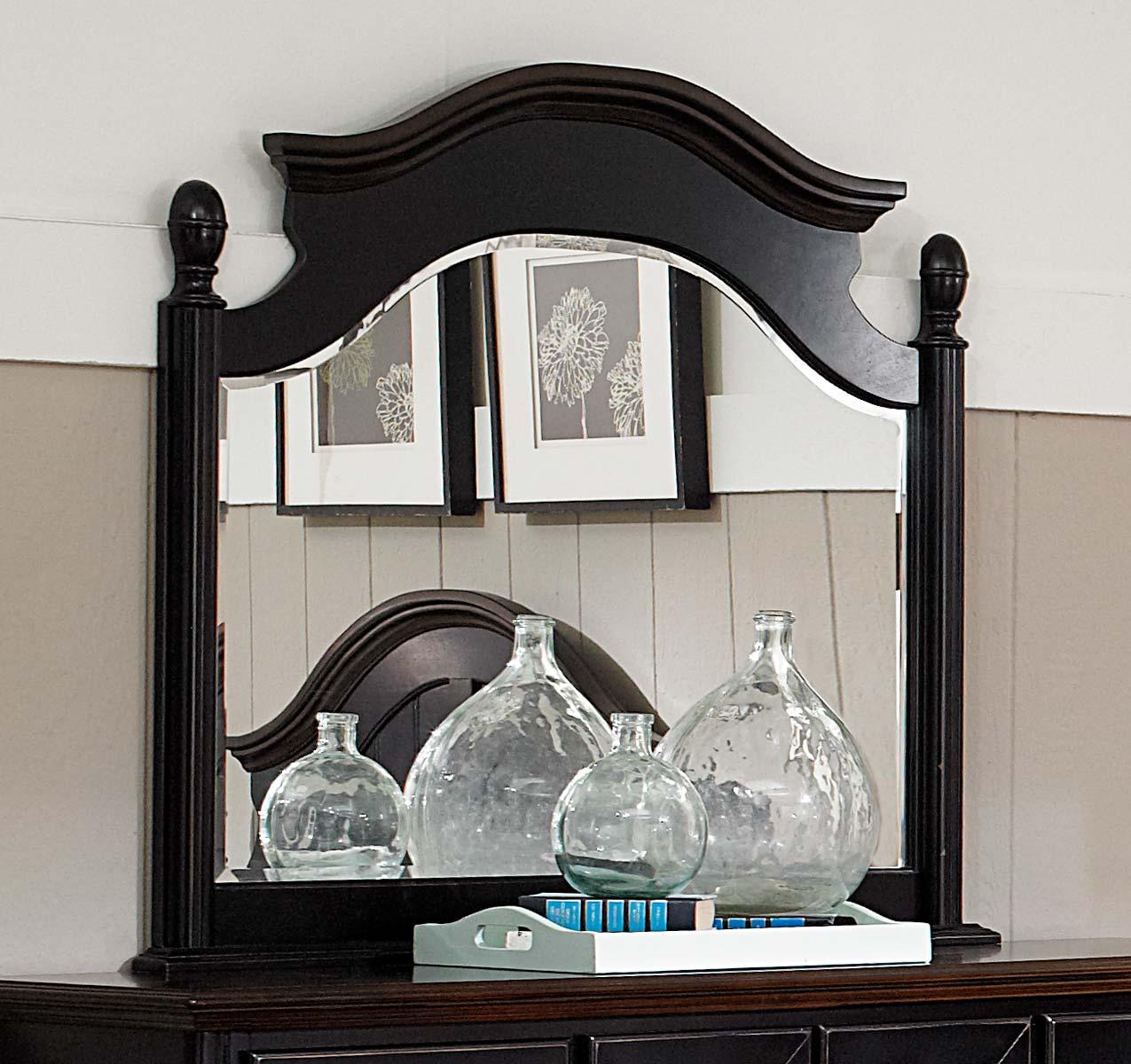 Homelegance Loretta Mirror - Black Sand through