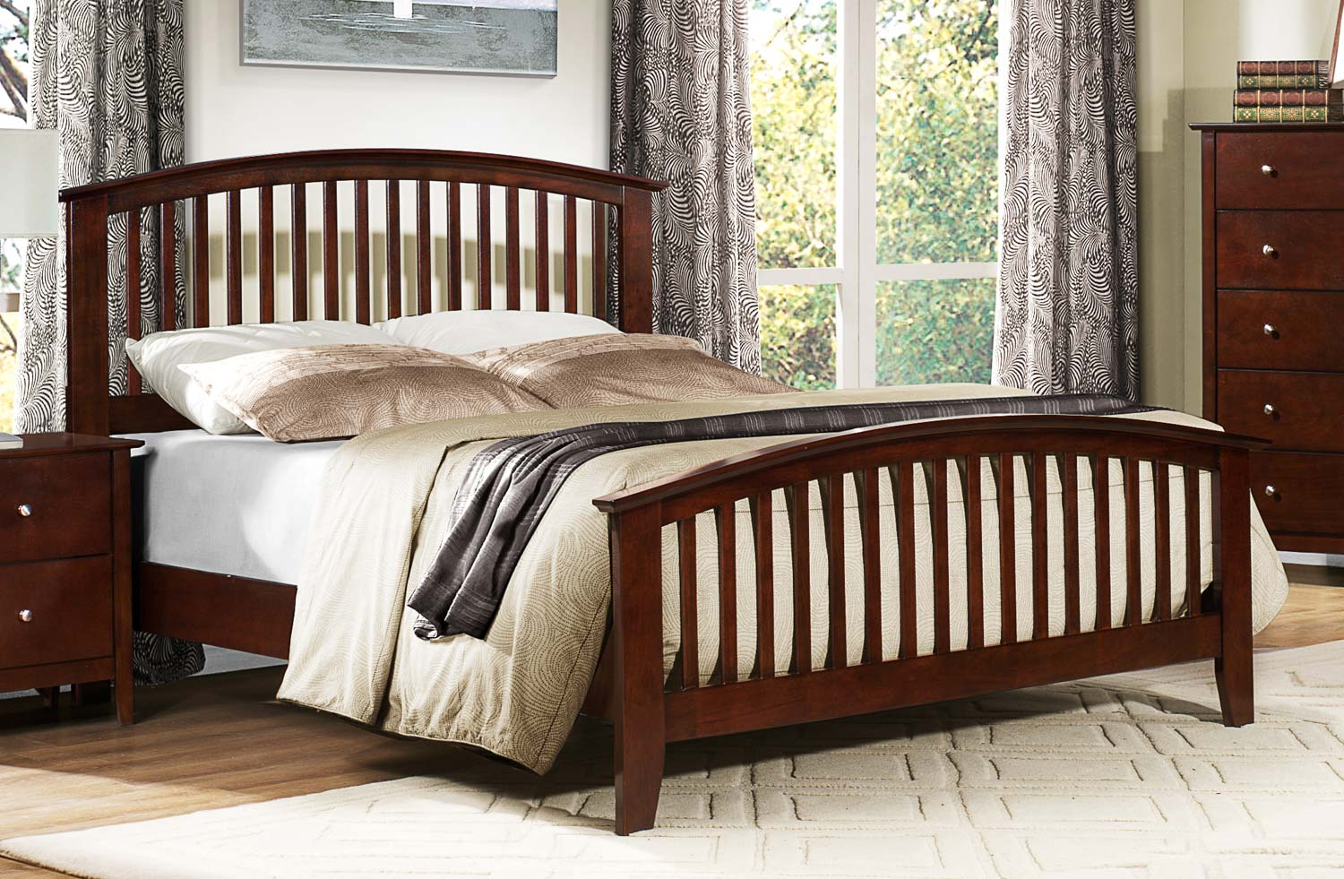 Homelegance Nancy Bed - Merlot