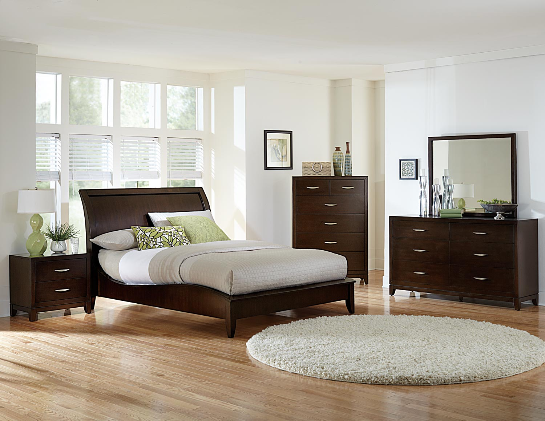 Homelegance Starling Sleigh Bedroom Collection - Dark Cherry