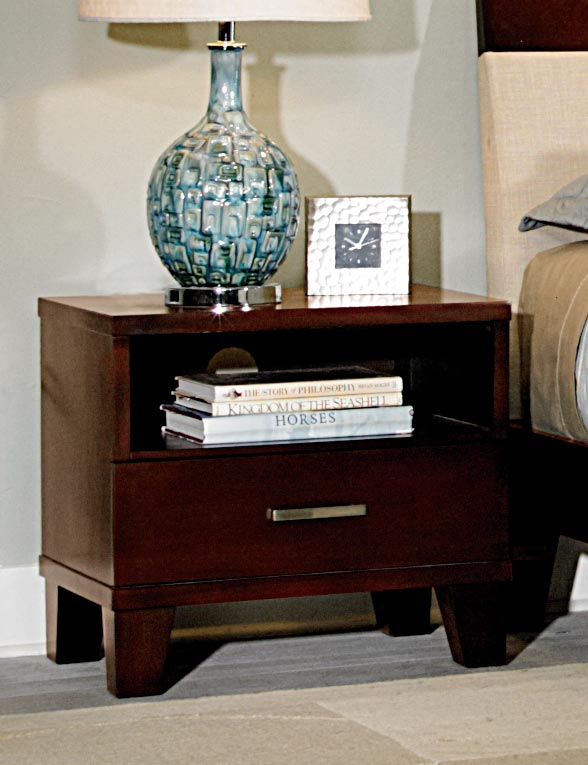 Homelegance Claran Night stand - Dark Cherry