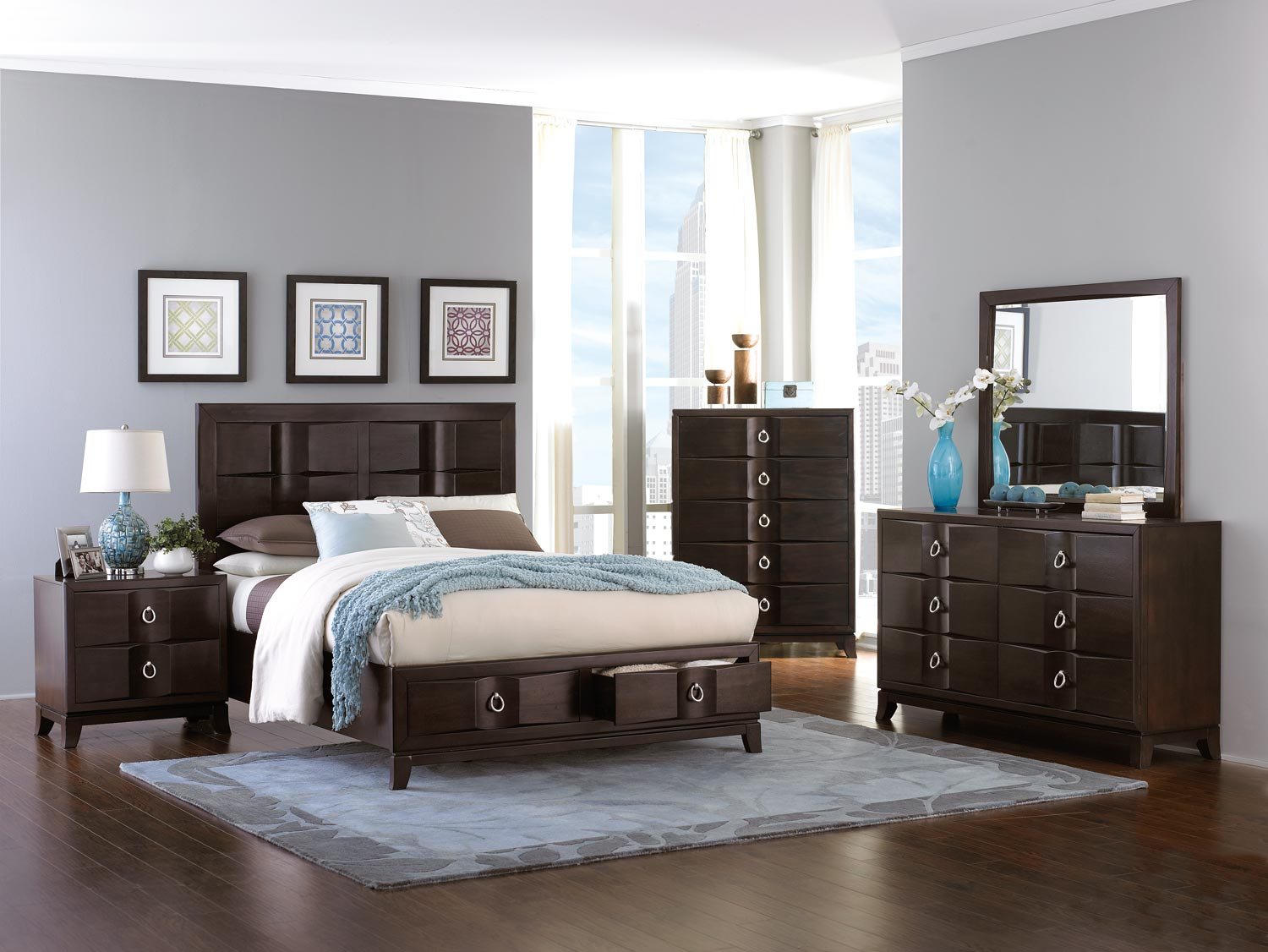 Homelegance Edmonston Platform Storage Bed Collection - Espresso