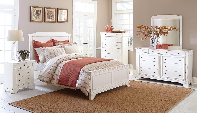 Homelegance Derby Run Bedroom Set - White Sand-Through