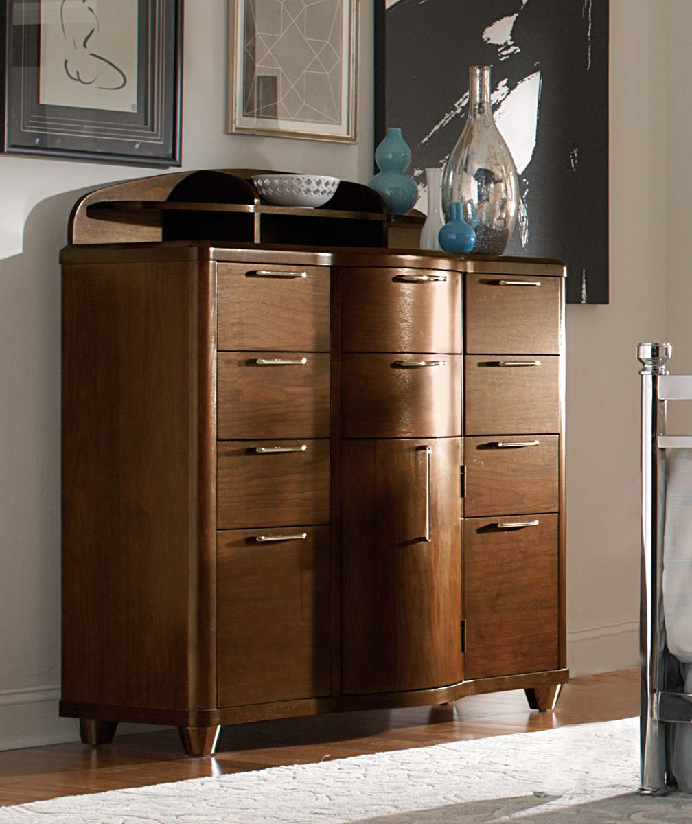 Homelegance Zelda Tall Dresser - Warm Cherry